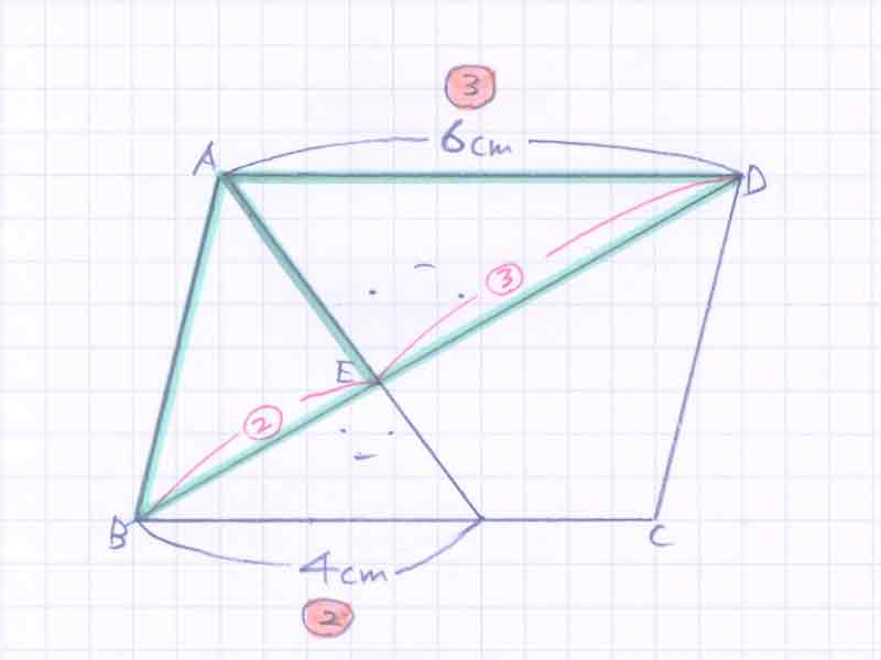 平行四辺形の面積比の問題解説03