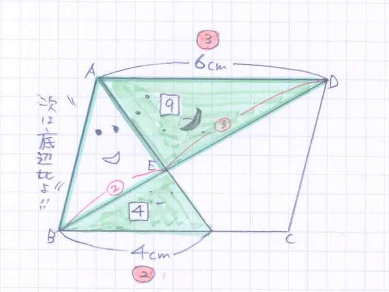 平行四辺形の面積比の問題解説05