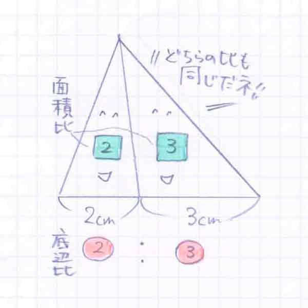 面積比と底辺比の関係02
