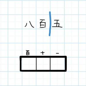 3桁の漢数字を数字へ変換_手順1