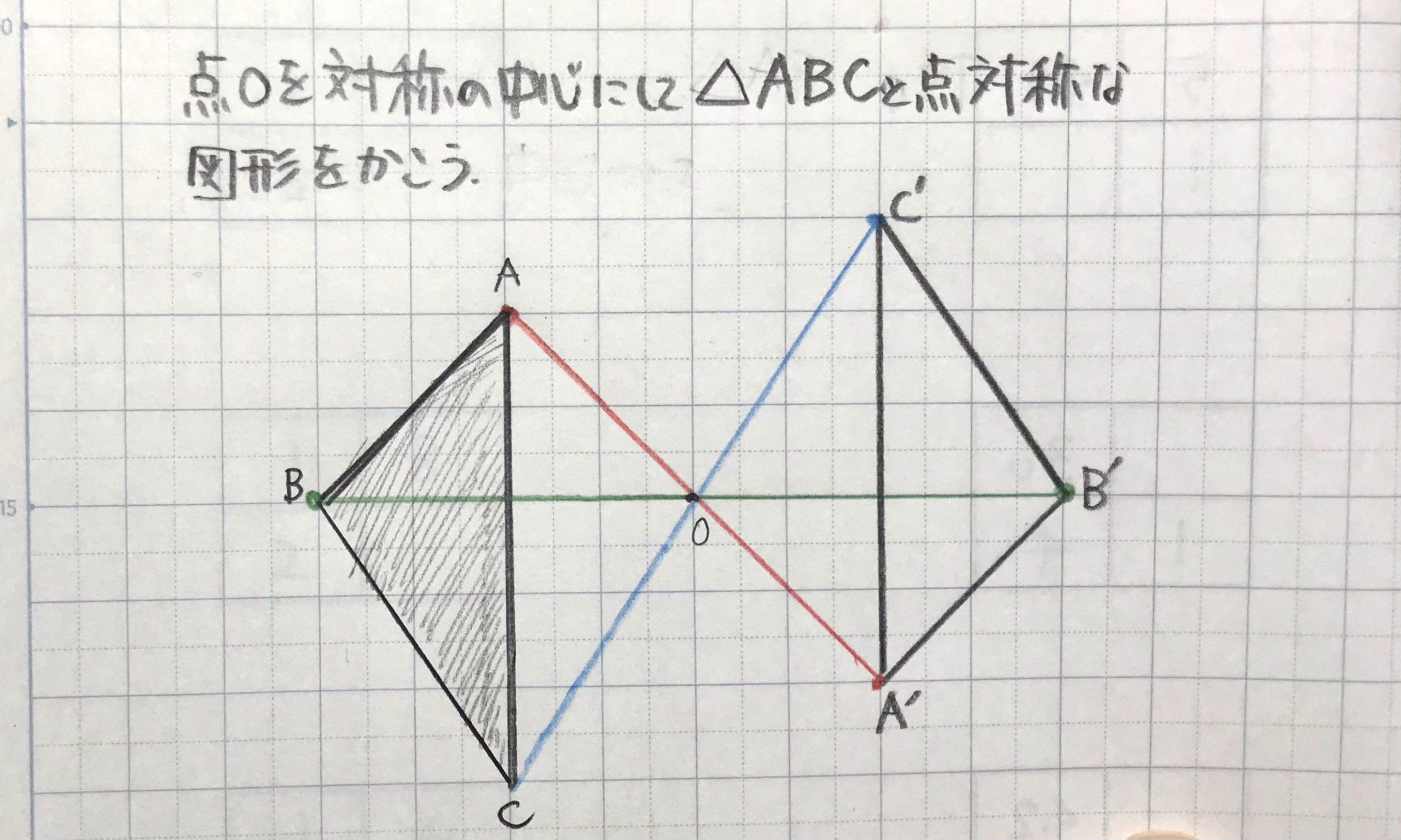 点対称をかこう